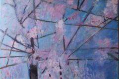 Sakura 4, Acrylics  on Canvas