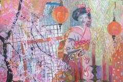 Hanami, Mixed Media on Canvas