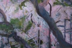 Sakura 1, Mixed Media on Canvas
